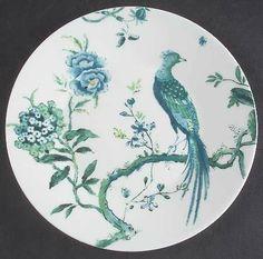 Wedgwood Jasper Conran Chinoiserie White Salad Plate, Fine China Dinnerware by Wedgwood. $33.99. Wedgwood - Wedgwood Jasper Conran Chinoiserie White Salad Plate - White Background,Green Bird