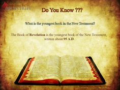 Do You Know? What is the youngest book in the New Testament?