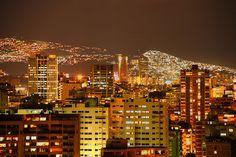 Caracas de noche. Venezuela