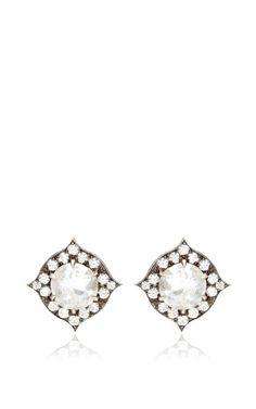 One Of A Kind Diamond Studs by Sylva & Cie - Moda Operandi