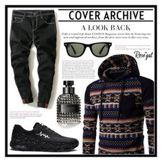"""""""Cover Archive"""" by amra-sarajlic ❤ liked on Polyvore featuring Ray-Ban, Valentino, men's fashion and menswear"""