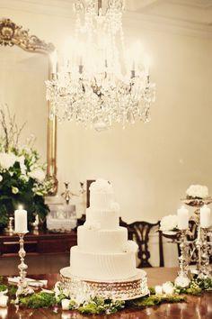 Classic black tie wedding cake with a gorgeous chandelier overhead Black Tie Wedding, Formal Wedding, Elegant Wedding, Perfect Wedding, Wedding Styles, Wedding Simple, Luxe Wedding, Whimsical Wedding, Wedding Blog