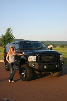 This is what I will be driving for my mom vehicle one day. Lifted Ford Excursion (or something similar)