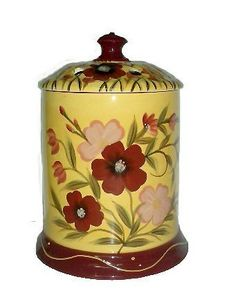 Electrical Jar Melter, Candle Jar Holder Tuscany Garden Flower by ACK. $20.85. The Unique Selection of a great Italian Collection. High Quality Ceramic, Finish Gloss, Stylized floral in vibrant colors hand painted in fashion forward hues adorn all of the pieces; The colors are amazing. This is a Unique Italian Style Collection. Bright Colors and Floral designs all over this piece . Imported. Dishwasher safer & Microwave Safer. 100% Hand painted. Excellent Quality....