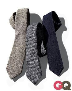 Roughneck: The Season's Best Wool Ties No Need to Be Bill Gates. These ties just flat-out look expensive—even if you spent as little on dinner at the mall food court. Sharp Dressed Man, Well Dressed, Foto Still, Look Man, Wool Tie, Knit Tie, Mein Style, Tie And Pocket Square, Suit And Tie