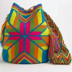 WAYUU TRIBE   #Handmade Boho Bags  Crochet Patterns made by the indigenous Wayuu Tribe in Colombia!  #BogoBags starting at $98.00 - $225.00 We offer international shipping including Brazil.  #Mochila #Bolsa #Yoga #Crochet #Knit #yarn #moda #mode #boho #handbag #streetstyle #bucketbag