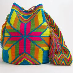 WAYUU TRIBE | #Handmade Boho Bags  Crochet Patterns made by the indigenous Wayuu Tribe in Colombia!  #BogoBags starting at $98.00 - $225.00 We offer international shipping including Brazil.  #Mochila #Bolsa #Yoga #Crochet #Knit #yarn #moda #mode #boho #handbag #streetstyle #bucketbag