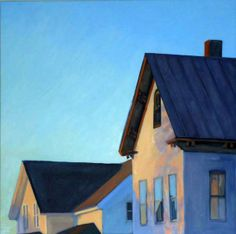 """""""Gable View"""" by Melissa Anne Miller (oil on canvas, 30 x 30, $4300)"""