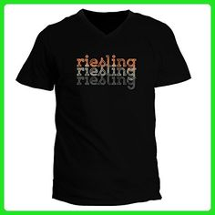 Idakoos - Riesling repeat retro - Drinks - V-Neck T-Shirt - Retro shirts (*Amazon Partner-Link)