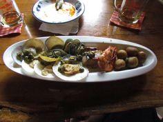 Mix de frutos do mar. Restaurante espanhol em Boracay, Filipinas