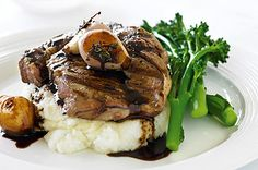 Beef with parmesan mash and balsamic French eschalots This is the recipe you chose as the winner of this week's beef food fight! Enjoy classic bistro-style fare at home with this modern twist on meat and three veg.