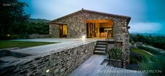 Villa for rent in Costa Brava, close Girona, with amazing view Modern Mountain Home, Boutique Homes, Village Houses, Sims House, Stone Houses, Facade House, House Goals, Granada, Future House