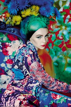 These images were taken by Erik Madigan Heck, an up-and-coming American art photographer, and are inspired by creative movements from the Impressionists to pop art. Pictured is Florals, published in 2012 in a collaboration with designer Mary Katrantzou