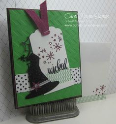 Stampin' Up!, DIY Crafts, Project Life Seasonal Snapshot, Wicked the musical, handmade greeting cards, DIY Crafts. More info about this card and why I created it on my blog!  http://www.carolpaynestamps.com/2015/09/stampin-up-project-life-seasonal-snapshot-2015.html