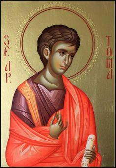 Byzantine Icons, Byzantine Art, Orthodox Christianity, Orthodox Icons, St Thomas, Christian Art, Saints, Celestial, Catholic