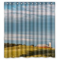 GreenDecor Beautiful Country View Waterproof Shower Curtain Set with Hooks Bathroom Accessories Size inches Shower Curtain Sets, Bathroom Accessories, Hooks, Country Bathrooms, Curtains, Bleach, Cold, Beautiful, Stylish