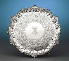 William IV Silver Tray by Paul Storr ~ M.S. Rau Antiques