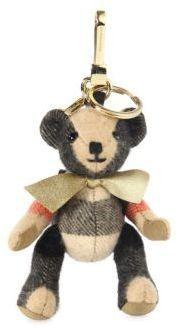 Burberry Goldtone Koala Bear Key Ring
