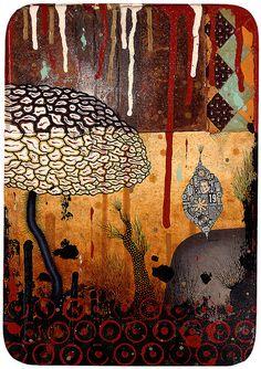 """The Great Divide"", Colin Johnson American Illustration, Collage Illustration, Collage Art, Indie Art, Communication Art, Weird Art, Outsider Art, Mixed Media Canvas, Affordable Art"
