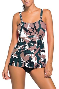 Cheap bain, Buy Directly from China Vintage Camouflage Print Swing Tankini Swimsuit Woman Sexy Beach Dress Bathing Suit Maillot De Bain Camouflage, Bandeau Tankini, Tankini Top, Black Tankini, Summer Swimwear, Swim Dress, Plus Size Swimwear, Women Swimsuits, Swimsuits 2017