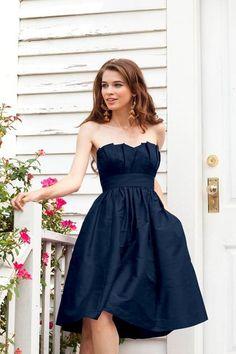 Cute navy blue dress.... Bridesmaids? :)