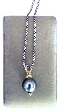 David Yurman Tahitian Black/Gray Pearl Necklace. Get the lowest price on David Yurman Tahitian Black/Gray Pearl Necklace and other fabulous designer clothing and accessories! Shop Tradesy now