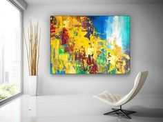 large canvas wall art textured abstract painting original image 2 Large Canvas Wall Art, Extra Large Wall Art, Canvas Art, Large Painting, Oil Painting On Canvas, Oversized Wall Art, Colorful Artwork, Texture Art, Original Paintings