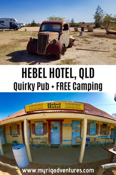The quirky little Outback Queensland Pub is fantastic! The Hebel Hotel is covered in colourful artworks & has great FREE Camping out the back. Travel Oz, Travel Tips, Travel Ideas, Travel Inspiration, Pub Free, Family Vacation Destinations, Travel Destinations, Australian Road Trip, Camping Places