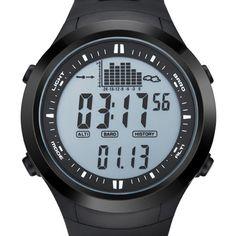 Digital Watches Men's Watches Efficient Spovan Men Women Sport Watch Fashion Ultra Thin Carbon Fiber Dial Red Genuine Leather Altimeter Barometer Multifunction Watches