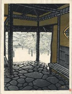 Thumbnail of Limited Edition Japanese Woodblock Print by Kasamatsu, Shiro Japanese Illustration, Illustration Art, Art Occidental, Japanese Woodcut, Art Asiatique, Art Japonais, Korean Art, Snow Scenes, Japanese Painting