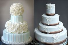 Hydrangea cake on the left   #weddings