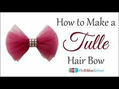 How to Make a Tulle Hair Bow - TheRibbonRetreat.com....idea for bead loom ?