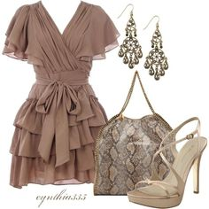 WOW! Ive been using this new weight loss product sponsored by Pinterest! It worked for me and I didnt even change my diet! I lost like 26 pounds,Check out the image to see the website, Taupe Ruffles, created by cynthia335 on Polyvore