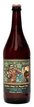 Cerveja Dogfish Head 75 minute IPA, estilo India Pale Ale (IPA), produzida por Dogfish Head Craft Brewed Ales, Estados Unidos. 7.5% ABV de álcool.