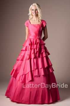 Bridesmaid & Prom, Sharon | LatterDayBride & Prom -Modest Mormon LDS Prom Dress
