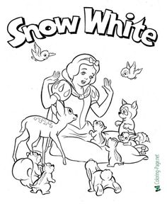 Fairy Tale Coloring Pages Snow White Coloring Pages, Printable Coloring Pages, Coloring Pages For Kids, Coloring Sheets, Picture Comprehension, Fun Games For Kids, Red Riding Hood, Early Learning, Your Story