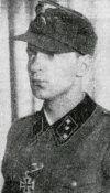 Waffen - Obersturmführer Atis Neilands commander der Waffen - SS Fusilier Battalion 15 . ( Latvian ) Berlin 1945