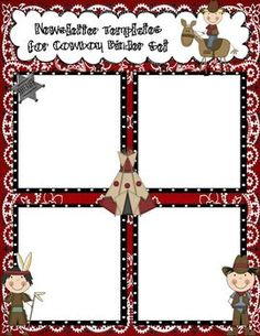 Hi, This set of Newsletter Templates include a color and black/white copy to accompany my Cowboy Binder set. This is also an editable Powerpoint file so you can add your own information to the newsletters.     Thanks so much!!   Kyp