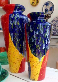 Vasos decorativos, pintado à mão .