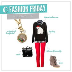 Holiday Chic fashion with Origami Owl See more at www.facebook.com/origamiowldollinevance
