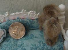 Dollhouse Miniature Persian Cat OOAK Pet