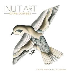 Buy Inuit Art/Cape Dorset 2016 Wall Calendar with free worldwide delivery Arte Inuit, Inuit Art, Dorset Holiday, Feather Drawing, Tlingit, Native Art, Illustration Art, Cape, Colourful Art