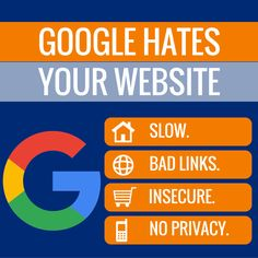 Do you have a website that's getting very few visitors and no leads? It might be because Google hates your website. Google's power can change your business for better or worse. It takes time to develop an authoritative and Google-pleasing site, but by addressing these issues you can become a contender for your niche.