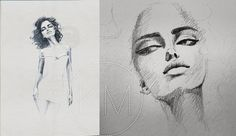 I was trying to catch the look of #irinashayk from #GQ magazine. see more https://www.facebook.com/KMdrawings