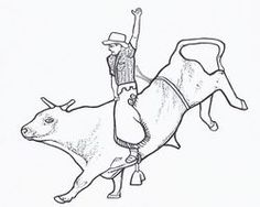 Bull Riding Coloring Page Free Printable