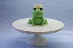 Prince Frog Cake Topper Set by BeautifulKitchen on Etsy, $50.00