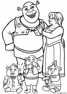 shrek coloring pages Free Printable Shrek Coloring Pages For