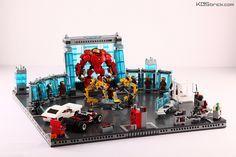 Iron Man Hall of Armor - Angle 1 Lego Ironman, Batman Lego, Spiderman, Lego Marvel's Avengers, Lego Marvel Super Heroes, Iron Men, Age Of Ultron, Marvel Dc, Captain America