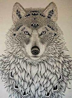 Zentangle-Wolf