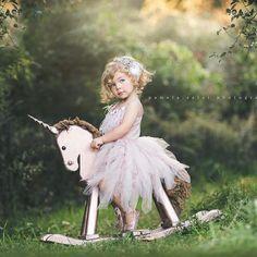 Rose gold unicorn , 3 year old session , creating magical memories Toddler Photos, Baby Girl Photos, Baby Pictures, Girl Photography, Children Photography, Rocking Unicorn, 4 Year Old Girl, 2nd Birthday Party Themes, Unicorn Photos